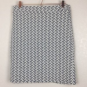 Banana Republic Navy White Knit Lined Skirt 10